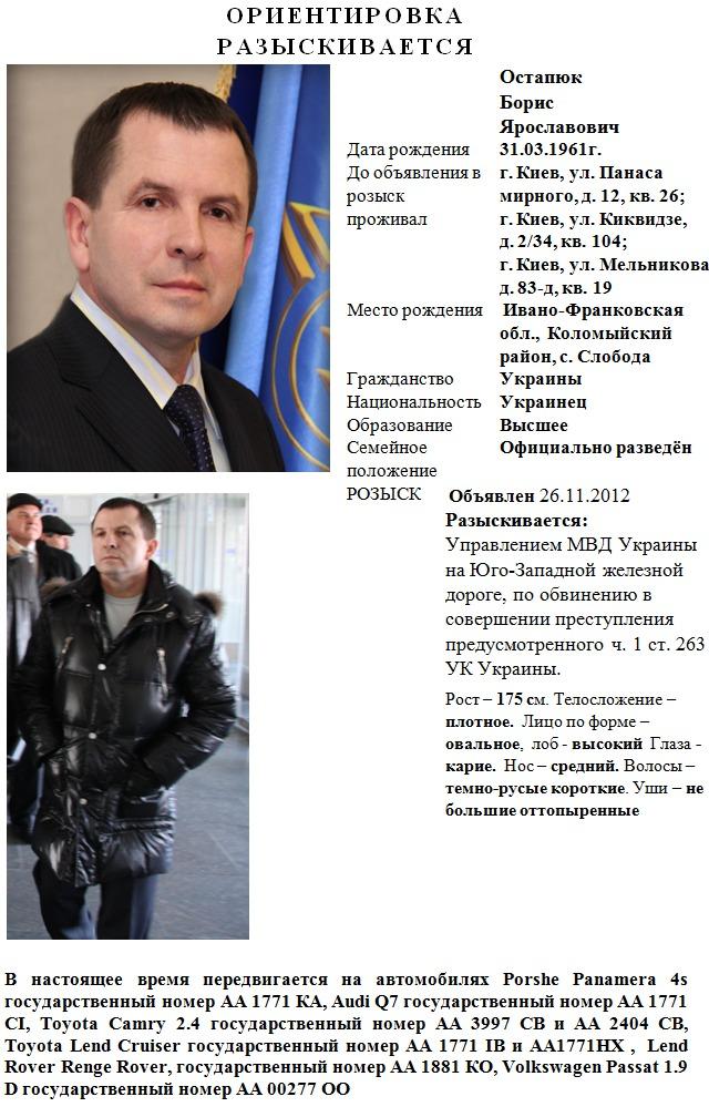 ГП «Укрзализныця» отдана на поталу уголовникам и пособникам сепаратистов во главе с Борисом Остапюком