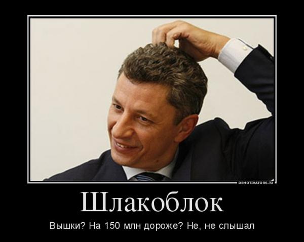 «Оппозиционный шлакоблок» и другие. Юрий Бойко – менеджер мафии