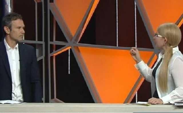 Полный ноль: Тимошенко выставила Вакарчука дураком в прямом эфире