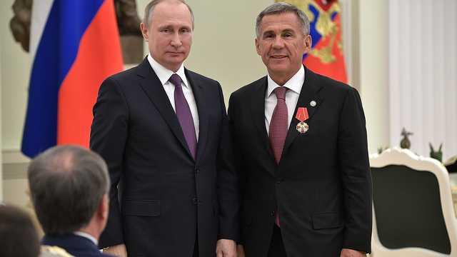 Путин поддержал выдвижение президента Татарстана на новый срок