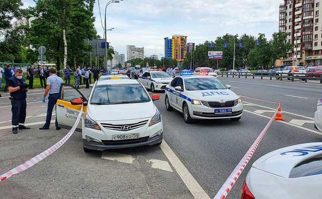 Перестрелка полицейских с таксистом на Ленинском проспекте