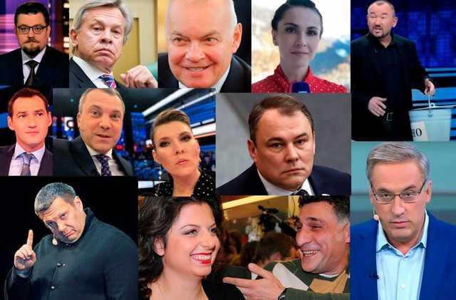 13 друзей Путина. Сколько зарабатывают самые известные пропагандисты российского ТВ