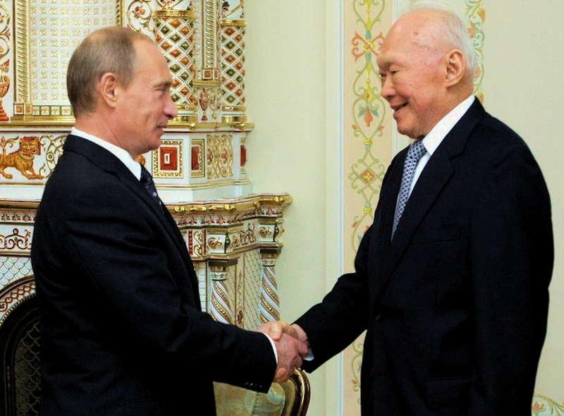 Ли Куан Ю президент России Владимир Путин