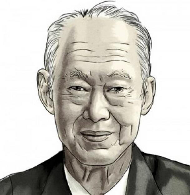 портрет Ли Куан Ю