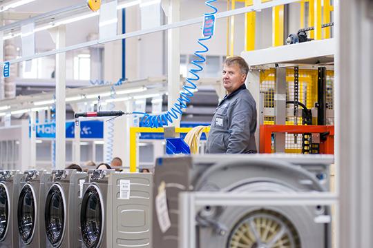 Функционирует и завод стиральных машин. За год работы там выпустили 165 тыс. единиц продукции, создав 317 рабочих мест