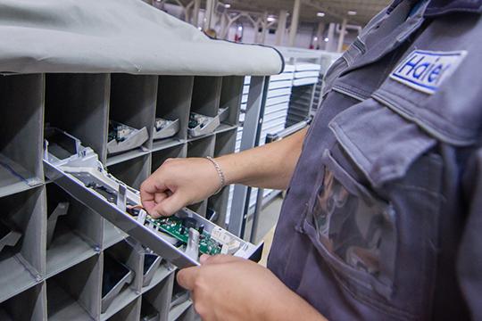 Средняя зарплата упроизводственного персонала корпорации составляет 33тыс. рублей, уадминистративного— 85тыс. Сейчасвштате челнинских площадок Haier чуть больше 1200 сотрудников